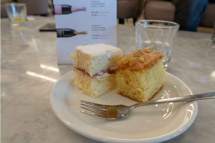 A selection of cakes available at Aspire Lounges airport lounge in Liverpool airport