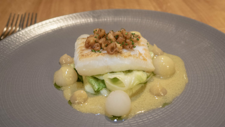 Take a look at the indulgent and delicious seven course tasting menu at the Michelin starred Olive Tree restaurant in Bath [Ad]