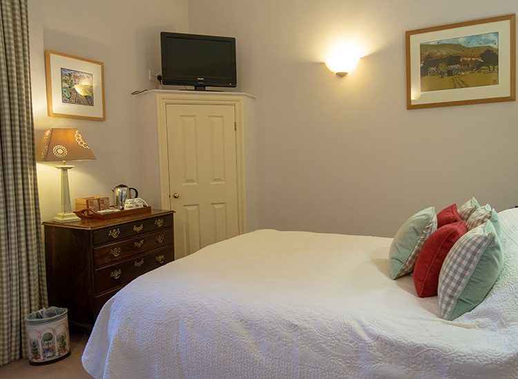 A view of a Classic Double room at Gliffaes Country House Hotel near Brecon in Wales.