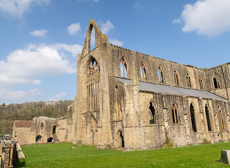 The ruins of Tintern Abbey in Monmouthshire. The abbey is about an hour's drive away from Gliffaes Country House Hotel