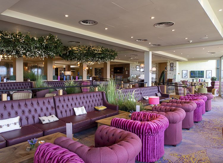 The Arden lounge at Warner Leisure Hotels Studley Castle in Warwickshire, England
