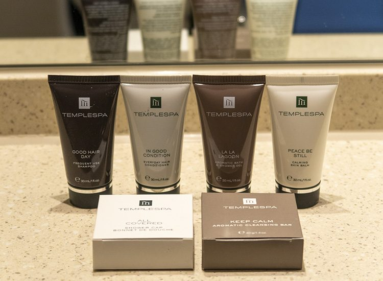 Templespa toiletries are complimentary at Warner Leisure Hotels Studley Castle in Warwickshire, England
