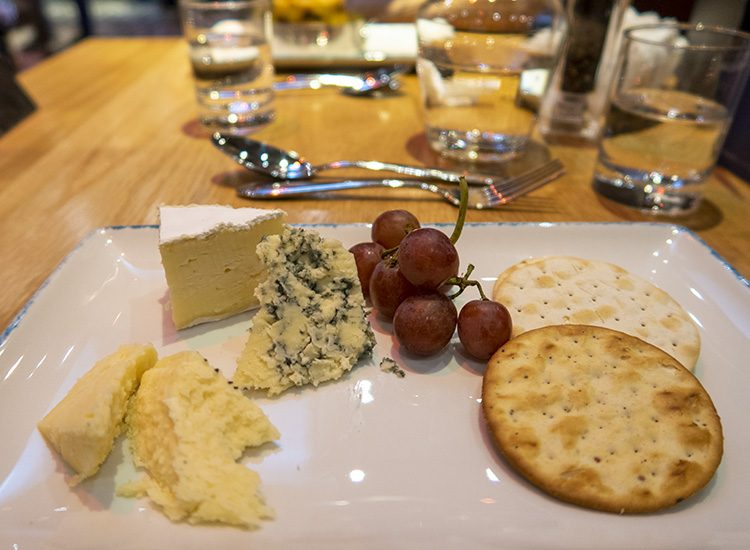 Cheese and biscuits at Warner Leisure Hotels Studley Castle in Warwickshire, England