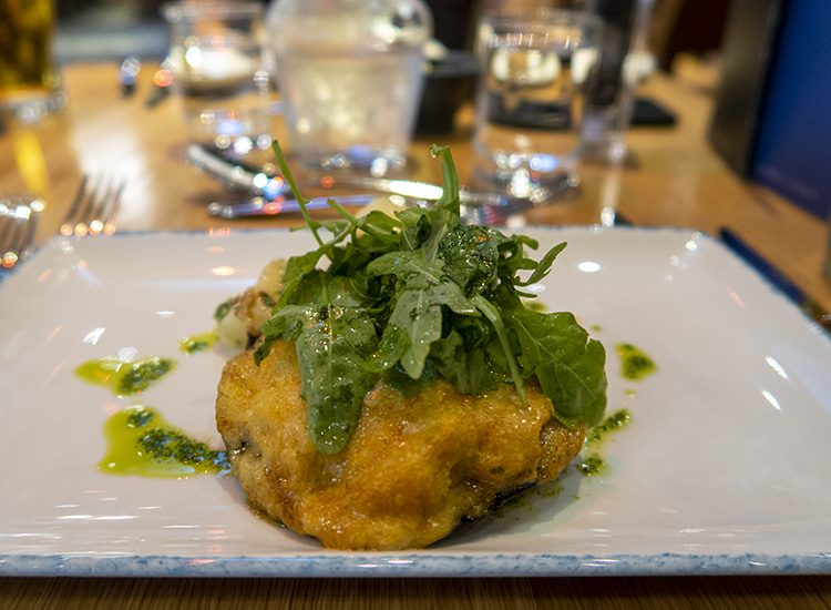 A Rarebit topped Portobello mushroom served as a starter at Warner Leisure Hotels Studley Castle in Warwickshire, England