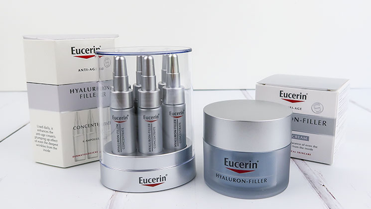 Take a look at the Eucerin Hyaluron-Filler range, skincare products that are specifically tailored to address signs of ageing.