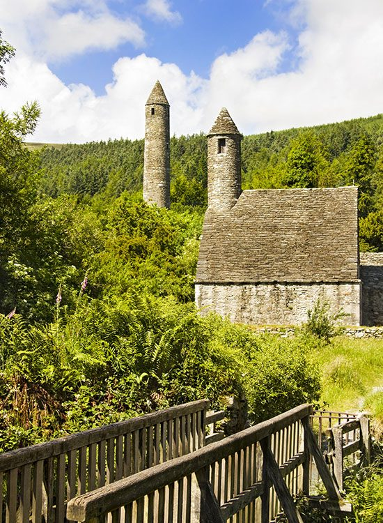 Saint Kevin Church at Glendalough Heritage Centre in the Wicklow Mountains
