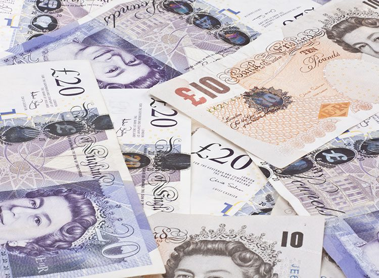 UK Sterling notes - £20 and £10 notes