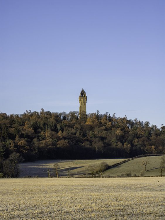 The National Wallace Monument near Stirling, as seen from the A91