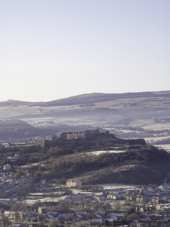 Stirling castle, as seen from the top of the National Wallace Monument, Scotland