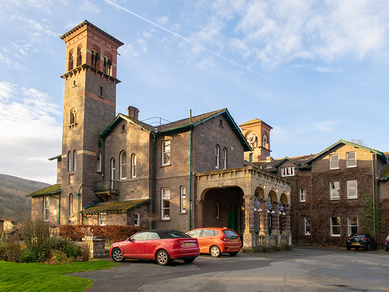 Gliffaes Country House and Hotel near Crickhowell in South Wales, UK