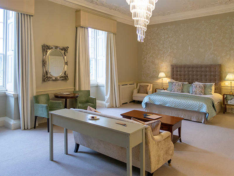 The Nightingale Suite at Nanteos Mansion hotel near Aberystwyth in mid-Wales