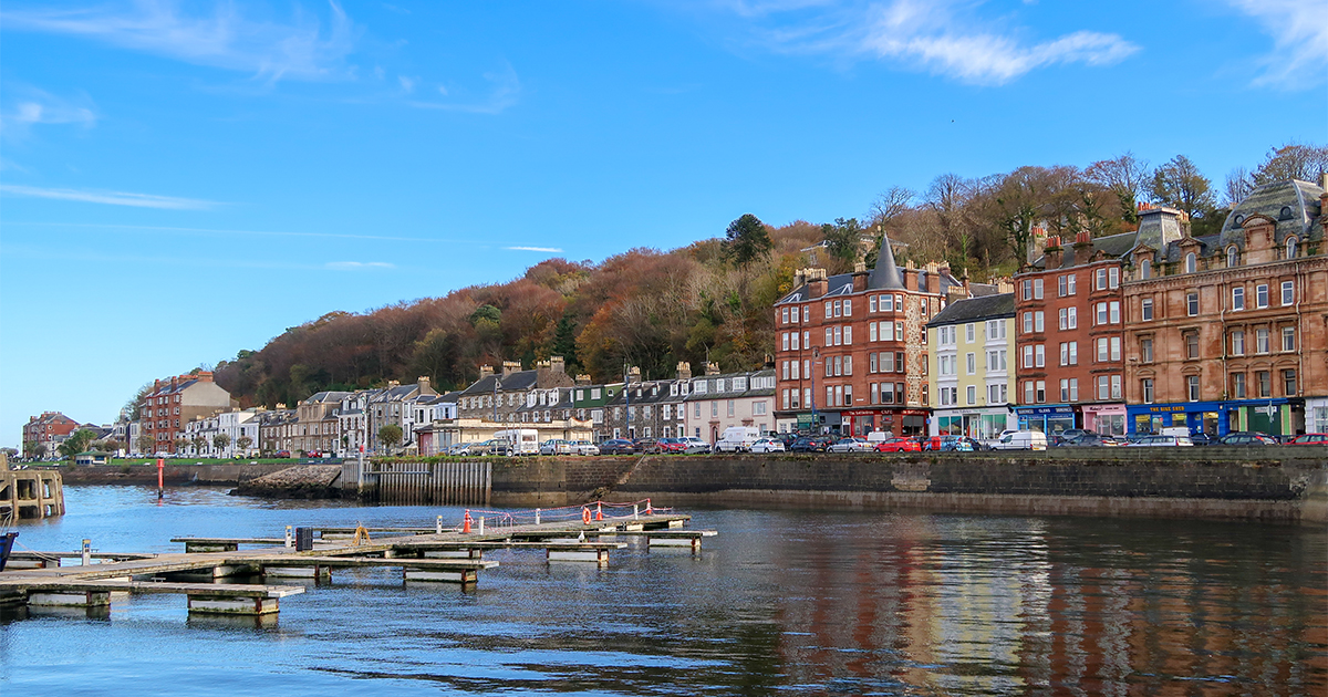 Rothesay Harbour on the Isle of Bute, Scotland