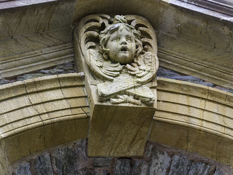Architectural detail at Hestercombe House, near Taunton in Somerset (UK)