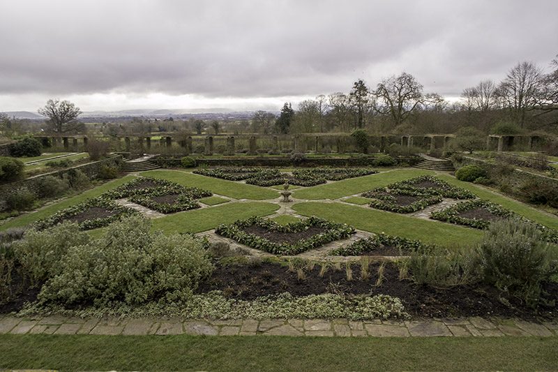 The Edwardian Formal Garden designed by Jekyll and Lutyens at Hestercombe House, near Taunton in Somerset (UK)