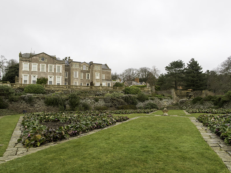 A view of Hestercombe House from the Great Plat of the Edwardian Formal Gardens, designed by Jekyll and Lutyens