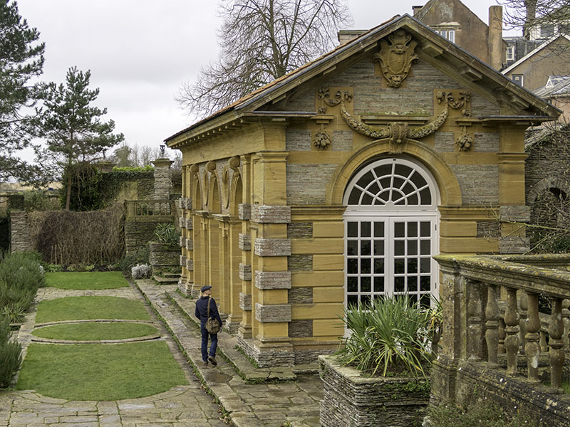 The Grade 1 Listed Orangery at Hestercombe House, near Taunton in Somerset (UK)