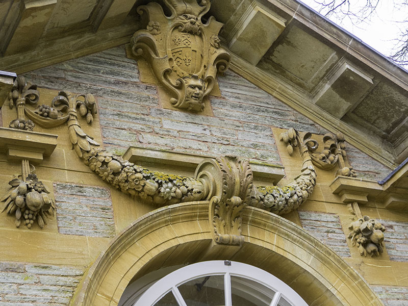 Architectural detail on the Orangery designed by Edwin Lutyens, at Hestercombe House, near Taunton in Somerset (UK)