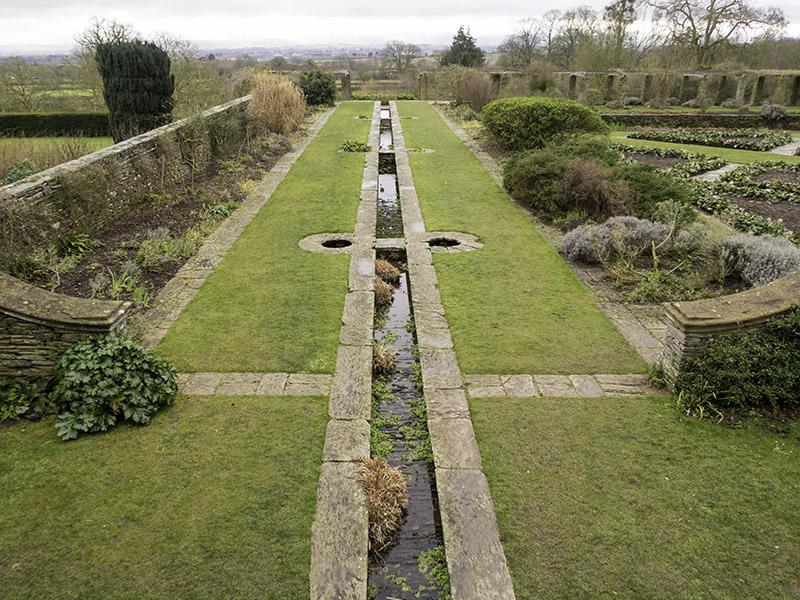 The Edwardian Formal Garden at Hestercombe House, near Taunton in Somerset (UK)
